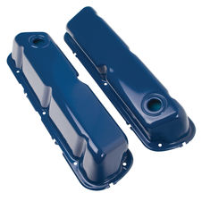 """O.E.M."" Style Valve Covers; Stock Height; 1962-85 SB Ford- FORD BLUE"