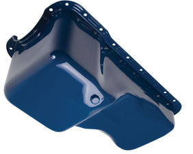 "1967-81 Ford 351W (no dipstick) ""OEM STYLE"" Oil Pan- FORD Blue (Stock)"