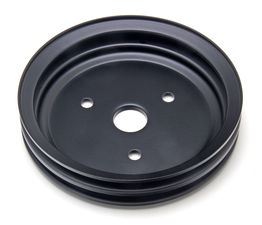 CRANKSHAFT Pulley; 2 Groove; CHEVROLET SB (55-68);SHORT Water Pump-ASPHALT BLACK