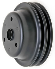 CRANKSHAFT Pulley; 2 Groove; CHEVROLET SB (69-85);LONG Water Pump-ASPHALT BLACK