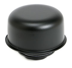 """TWIST-IN"" Style Breather Cap; 2-3/4"" Diameter- ASPHALT BLACK Powder Coated"