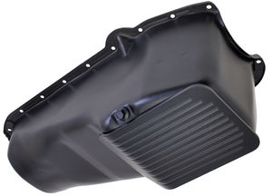 1980-85 Chevy 305-350 SLAM-GUARD Oil Pan (4 Qt)- ASPHALT BLACK