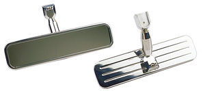 "REAR VIEW MIRROR; 8-1/4"" Wide; PINSTRIPES (ball-milled)- ALUMINUM"