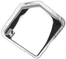 TH350-CHROME Transmission Pan; Stock Capacity; Stock Depth; PLAIN Bottom