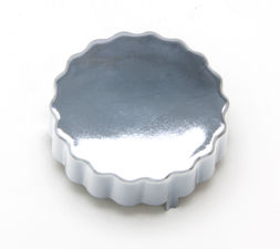 POWER STEERING RESERVOIR CAP Cover; Saginaw Pumps-CHROMED Plastic