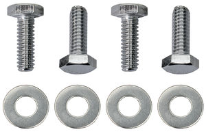 "1/4""-20 x 1"" HEX HEAD Valve Cover Bolts and Washers (set of 4)-CHROME"