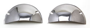 "HEADLIGHT Half Shields; 5-3/4"" ROUND-CHROME"