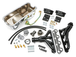 Engine Swap In A Box Kit; SB Ford in 83-97 Ford Ranger- Black Coated Hedders