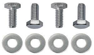 "1/4""-20 x 3/4"" HEX HEAD Valve Cover Bolts and Washers (set of 4)-CHROME"