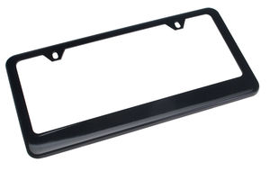 EXECUTIVE License Plate Frame- Steel/BLACK Powder coated
