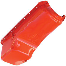 "1965-90 BB Chevy 396-454 ""OEM STYLE"" Oil Pan-CHEVY Orange (4 Qt)"