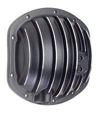 DANA 25-27-30 Style; Aluminum Diff. Cover-Black w/Polished Fins