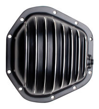 DANA 60 Style, Black Powder-Coated Aluminum Differential Cover w/ Polished fins