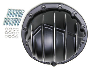"Chevy/GM Interm. 12-Bolt; 8-7/8"" Gear; Aluminum Diff Cover-Black w/Polished Fins"