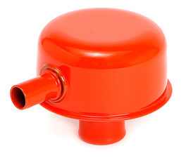 "PUSH-IN Breather Cap w/TUBE (no grommet); 2-3/4"" Overall Diameter- CHEVY ORANGE"