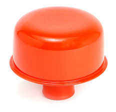 "PUSH-IN Breather Cap Only (no Grommet); 2-3/4"" Overall Diameter- CHEVY ORANGE"