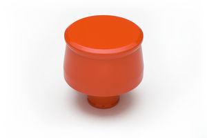 """PUSH-IN"" Style Breather; fits 1-1/4"" Hole- CHEVY ORANGE Powder Coated(ALUMINUM)"