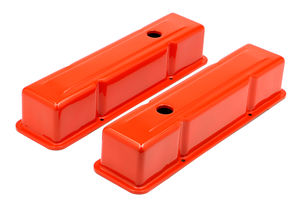CHEVY 283-400 TALL ORANGE POWDER COATED VALVE COVERS