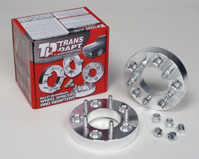 "BILLET WHEEL SPACERS; 5 LUG; 4.75"" BOLT PATTERN; 12MM X 1.5 STUDS;  1"" THICK"