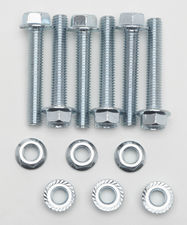 COLLECTOR BOLT KIT; for Ball and Socket Style Collector- ZINC PLATED (6 Pack)
