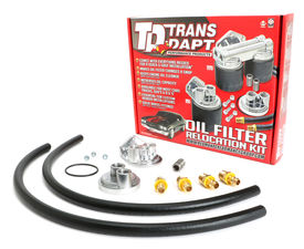 "Single Remote Oil Filter System; 2-1/2"" ID; 2-3/4"" OD Flange; 20mmX1.5 Thread"