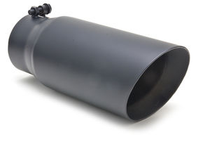 "EXHAUST TIP BOLT-ON; SATIN BLACK; 4"" I.D. X 5"" X 13"" ANGLE"