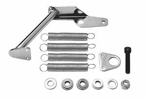 Carburetor Mount Throttle Body Return Spring Kit; Holley Carburetors-CHROME
