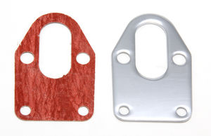 FUEL PUMP Mounting Plate and Gasket; SB Chevy 283-400-CHROME