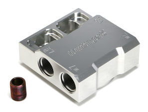 SINGLE Remote Oil Filter Base; HP4 (or equivalent); -12AN Ports-Billet Aluminum
