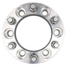 "6 LUG Wheel Spacers; 5.5"" Bolt Circle; 14mmx1.5 Threads (pr)- ALUMINUM"