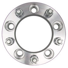 "5 LUG Wheel Spacers; 5.5"" Bolt Circle; 12mmx1.5 Threads (pr)- ALUMINUM"