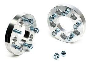 "BILLET WHEEL SPACERS; 5 LUG; 4.5"" BOLT PATTERN; 1/2""-20 STUDS; 1"" THICK"