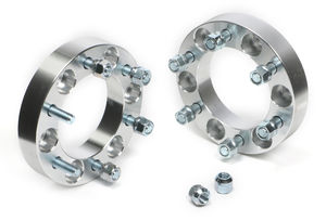"BILLET WHEEL SPACERS; 6 LUG; 5.5"" BOLT PATTERN; 12MM X 1.5 STUDS; 1 1/4"" THICK"