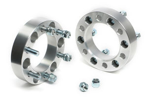 "BILLET WHEEL SPACERS; 6 LUG; 5.5"" BOLT PATTERN; 14MM X 1.5 STUDS; 1 1/2"" THICK"
