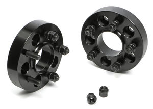"BILLET WHEEL SPACERS; 5 LUG; 114.3MM BOLT PATTERN; 1/2""-20 STUDS; 1 1/4"" THICK"