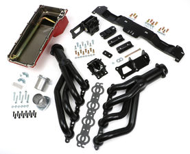SWAP IN A BOX KIT-LS ENGINE INTO 75-81 F-BODY AUTO TRANS. W/BLACK HEADERS