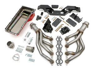 "Engine ""SWAP IN A BOX"" KIT; LS in 67-69 Camaro/Firebird; Auto Trans- Raw Headers"