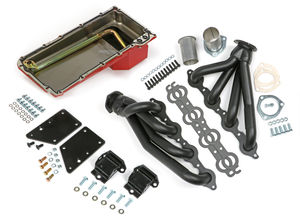 64-67 CHEVELLE, EL CAMINO, OTHER A-BODY / LS SWAP IN A BOX KIT-BLACK MAXX