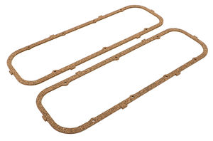 VALVE COVER GASKETS; Standard-Duty; 1965-95 Chevy 396-502- Cork/Rubber Nitrile