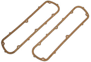 VALVE COVER GASKETS; Standard-Duty; Ford 260-289-302-351W- Cork/Rubber Nitrile