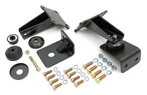 "Bolt-In, Biscuit Style Motor Mounts. For 5.7L HEMI with 27""-33"" Framerails"