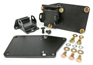 "ENGINE SWAP KIT; LT (GEN5) IN SB CHEVY CAR CHASSIS; 1-1/8"" REARWARD; RUBBER PADS"