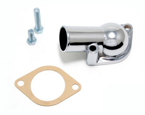 Water Neck; SB and BB Chevy- Late Model; (Gasket Seal); -CHROME