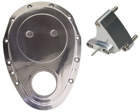 ALUMINUM Timing Chain Cover with Timing Tab-Chevy 4.3L V6 or SB V8 (not for LT1)