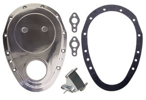 ALUMINUM Timing Chain Cover, Gasket , Tab- Chevy 4.3L V6 or SB V8 (not for LT1)