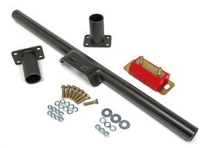 C4 & C6 TRANSMISSION CROSSMEMBER KIT; NO DROP; POLYURETHANE PAD
