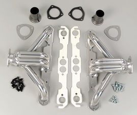 "BLOCK HUGGERS; Chevy SB 283-400; 1-1/2"" Tubes-HTC Ceramic Coated"