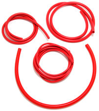 VACUUM HOSE (silicone); RED: 3, 6, 8 and 10mm Diameter Assortment