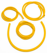 VACUUM HOSE (silicone); YELLOW: 3, 6, 8 and 10mm Diameter Assortment