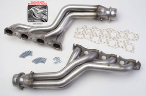 "STAINLESS STEEL Hedders; 2009-2014 Dodge Challenger 5.7L ; LONG 1-3/4"" Tube-HTC"